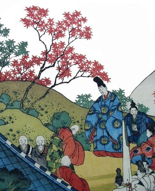 Hokusai_If_only_maples_could_think_poem6b