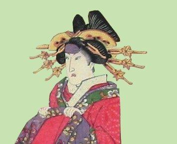Kunisada_Takao_maple_leaf_kanzashi