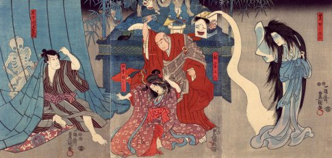 Kunisada_1850_Oiwa_and_monsters_6b
