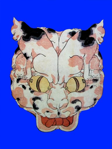 Kuniyoshi_cat_head_made_of_cats5