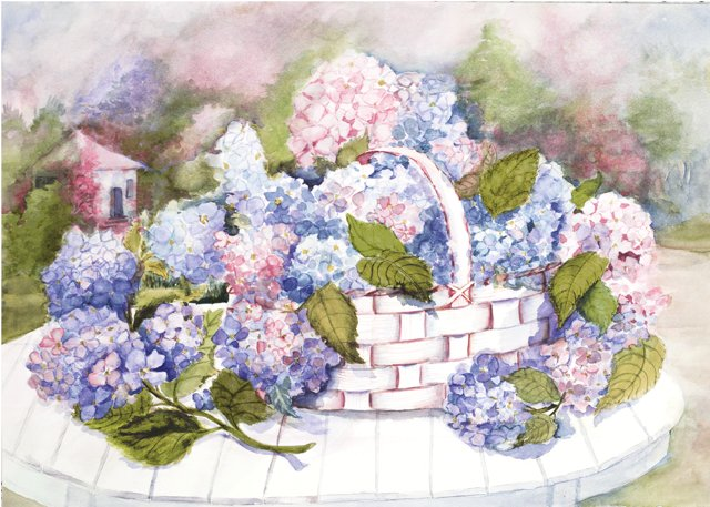 Hydrangeas Ǵ�陽花 Ajisai In Japanese Art And Elsewhere