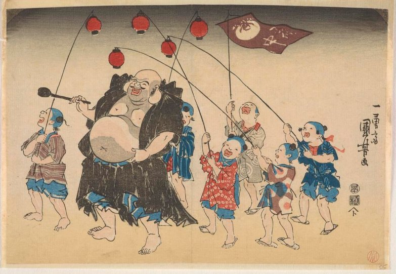 Freer_Kuniyoshi_Hotei_children_lanterns_7b