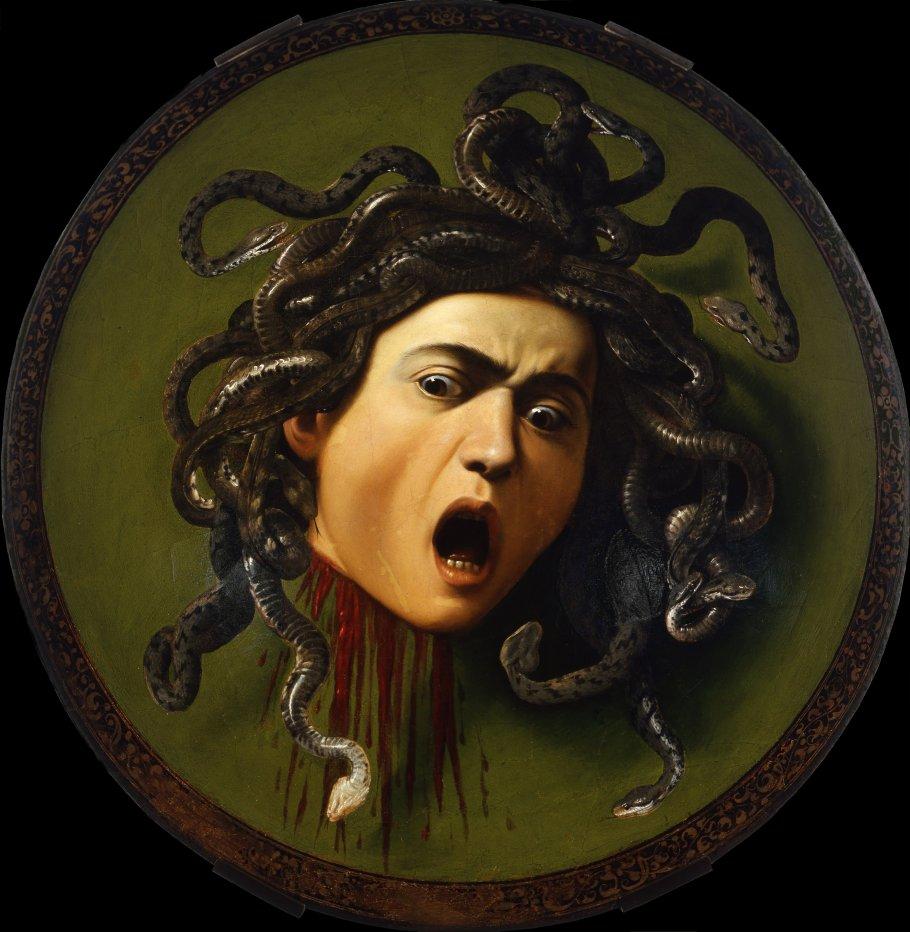 Caravaggio_Medusa_Uffizi_commons_7c