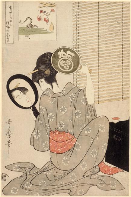 Guimet_Utamaro_beauty_snake_cartouche_7