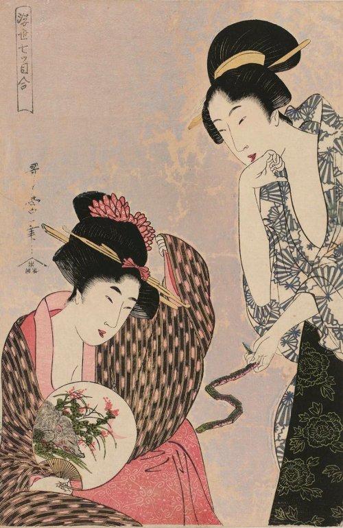 MFA_Utamaro_snake_boar_zodiac_signs_7b