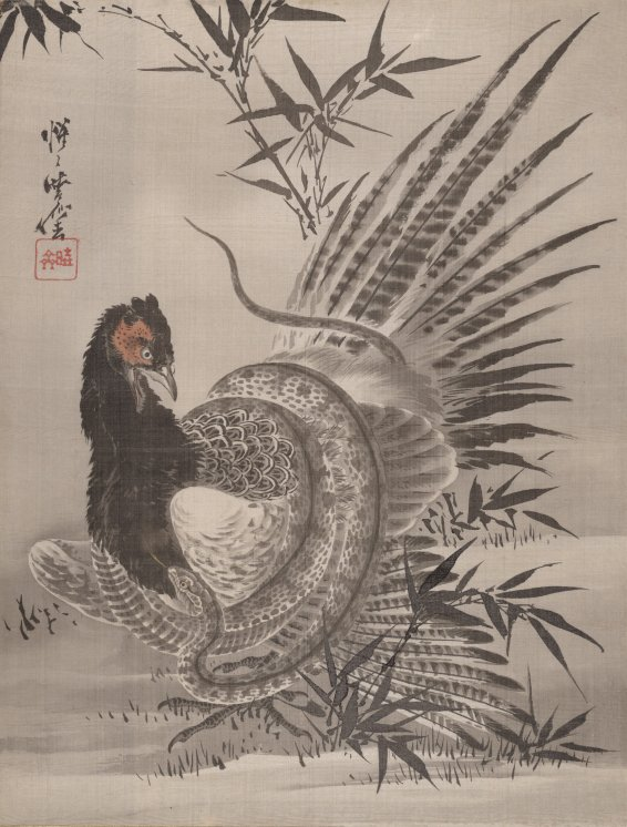 MMA_Kyosai_pheasant_caught_by_snake_7b