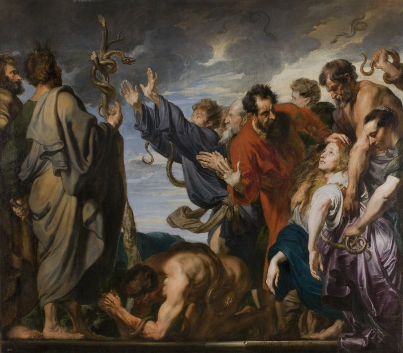 Prado_Van_Dyck_Moses_and_the_brazen_serpent_7c