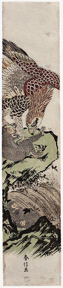 Mead_Amherst_Harunobu_monkey_eagle_7d