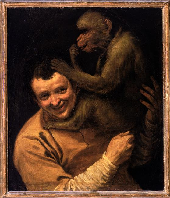 Uffizi_Carracci_Man_monkey_7