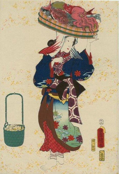MFA_Toyokuni_III_woman_with_seafood_7