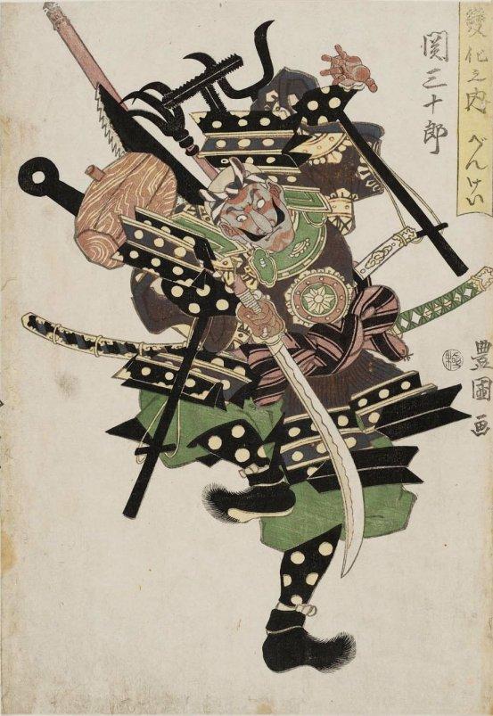MFA_Toyokuni_I_1813_Benkei_kumade_7b