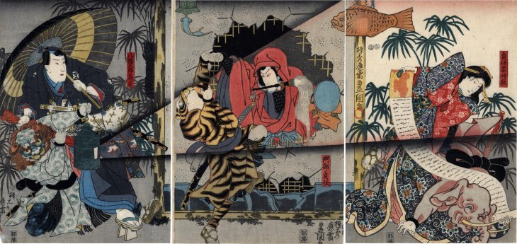 Kunisada_man_disguised_as_an_elephant_Lyon_Collection_7b