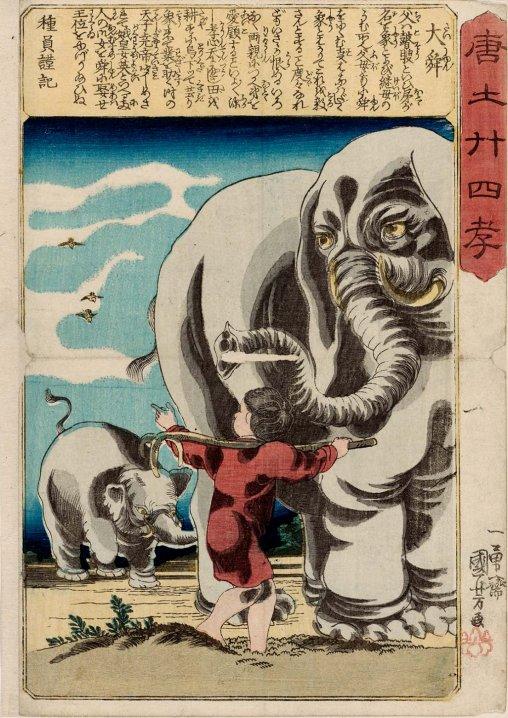 MFA_Kuniyoshi_Taishun_elephant_7b
