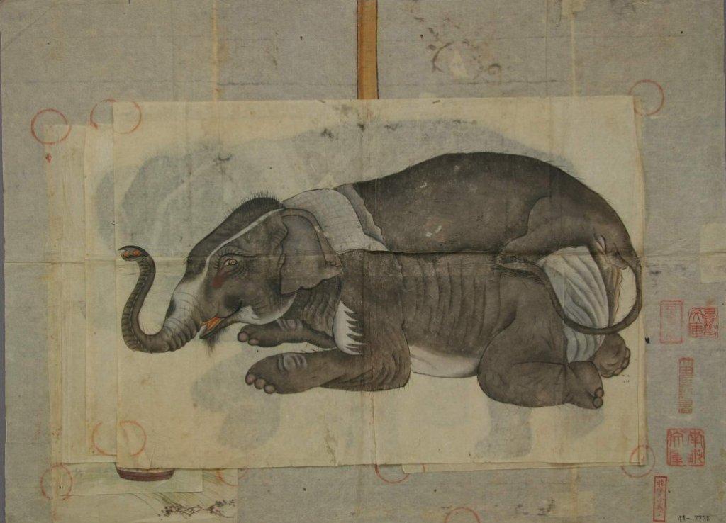 Waseda_University_Ota_Nanpo_elephant_sketch_7b