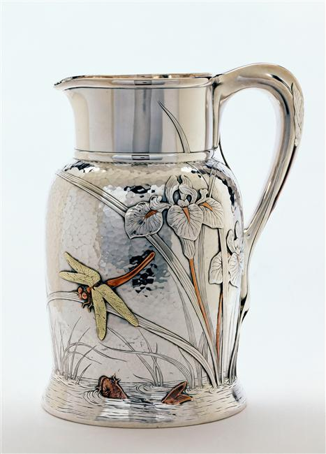 Orsay_Tiffany_ca.1878_Chandler_silver_pitcher_dragonfly_7