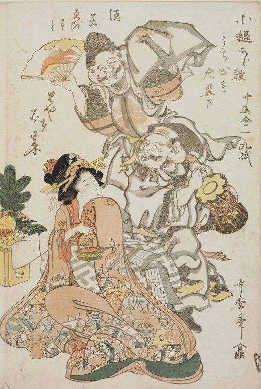 MFA_Utamaro_Ebisu_Daikoku_Manzai_dance_7b