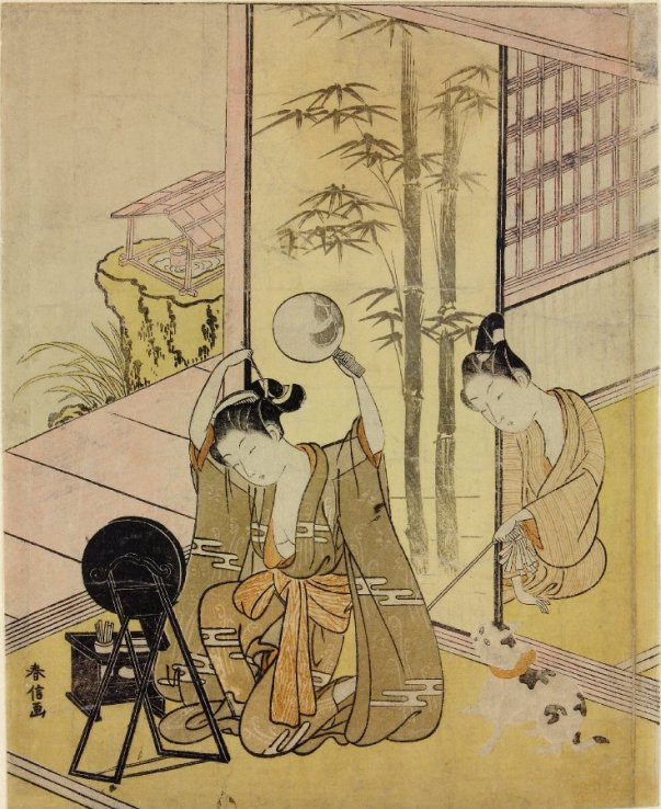 BM_Harunobu_woman_using_two_mirrors_7b