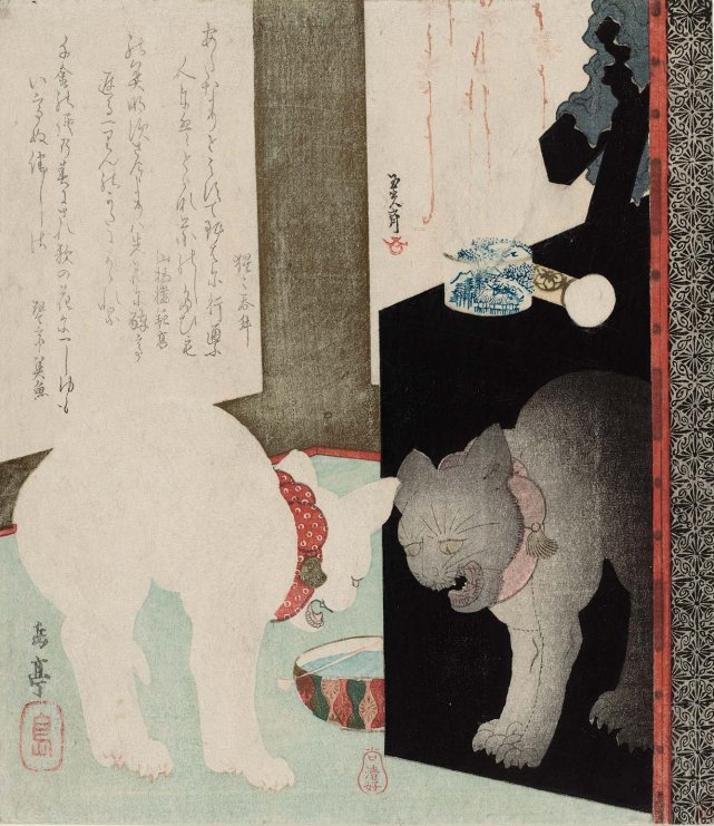 MFA_Gakutei_cat_mirrored_reflection_7b