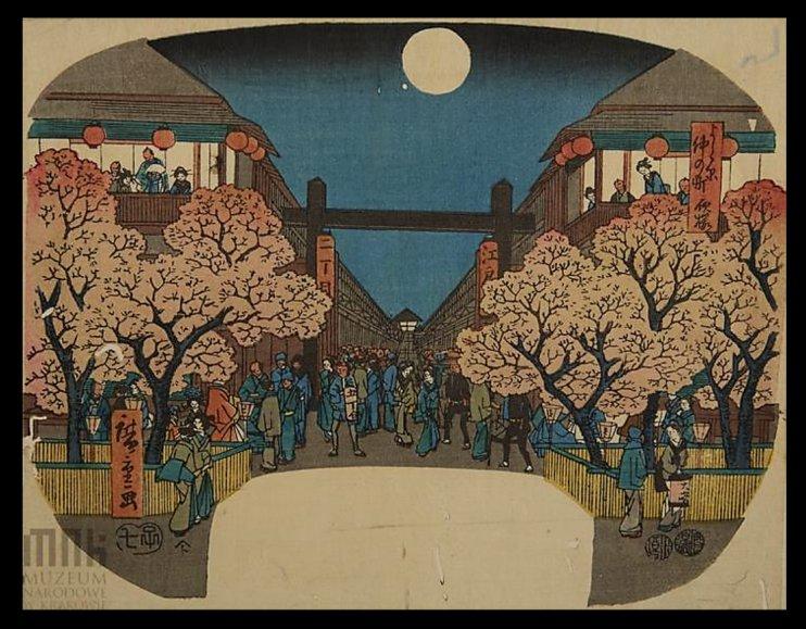 Hiroshige_fan_full_moon_Yoshiwara_Krakow_7b