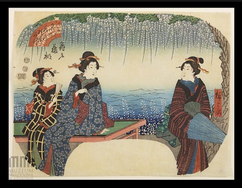 Hiroshige_Komeido_wistaria_fan_Krakow2c