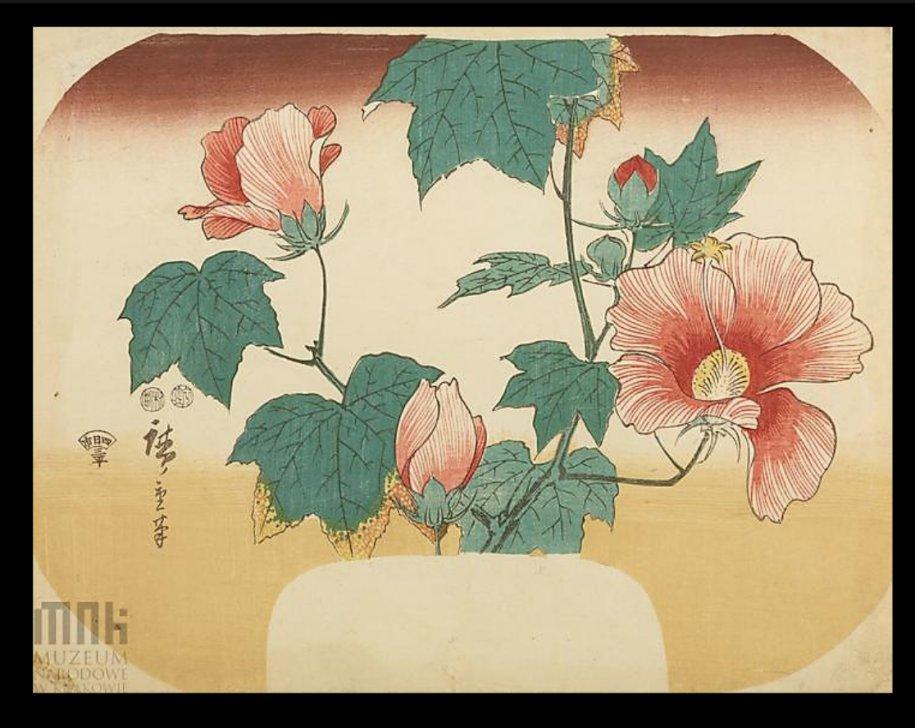 Hiroshige_malwy_hibiscus_fan_Krakow2b