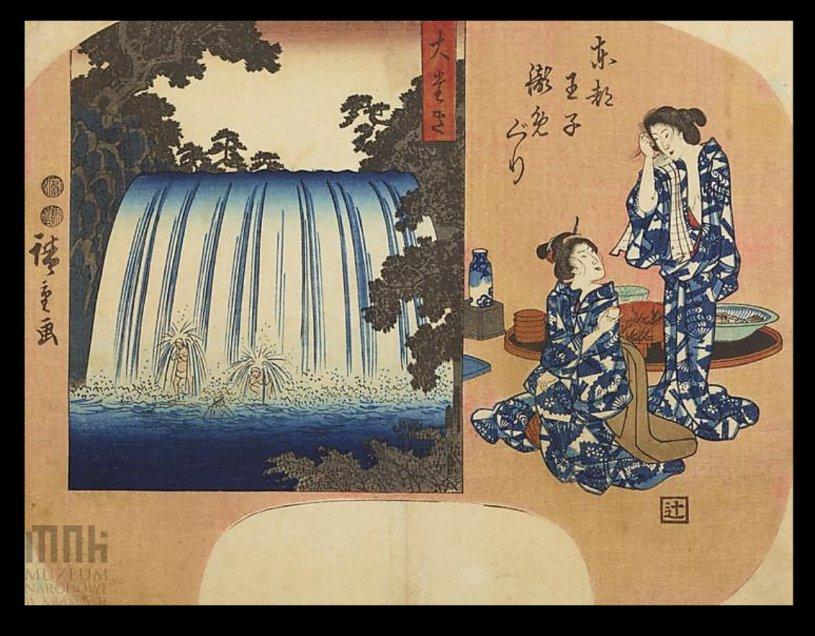 Hiroshige_Takinogawa_fan_Krakow_7b