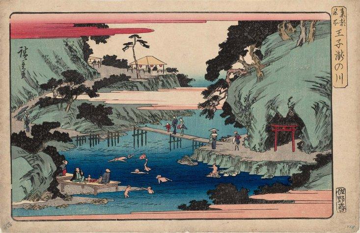 MFA_Oji_Takinogawa_Hiroshige_7b