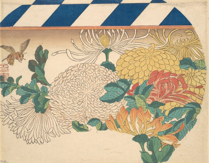 MMA_Hiroshige_Havemeyer_chrysanthemums_fan_7b