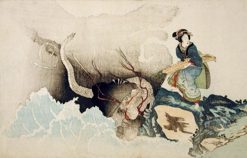 Oberlin_geisha_with_zither_about_to_mount_dragon_7b