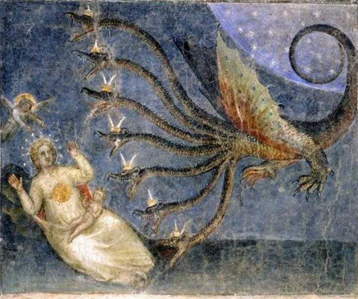 Padua_Baptistry_Apocalyps_dragon_Lady_Child_7b
