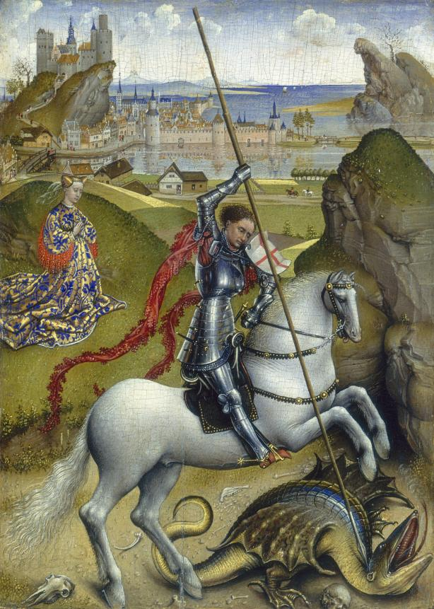 NGA_Saint_George_and_the_Dragon_Rogier_7b