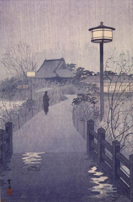 harvard_night_rain_at_shinobazu_pond_1938_shiro_