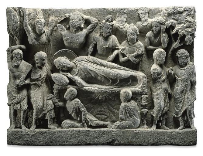 bm_death_of_buddha_2nd_to_3rd_c_gandharan_